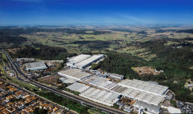 Vista área da fábrica da Jacto, em Pompeia-SP: planta atual.